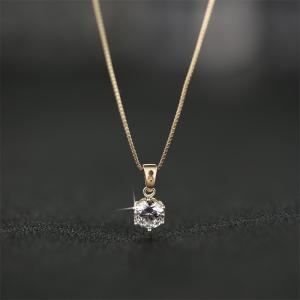 ネックレス レディース 大粒0.8カラット ネックレス 一粒/プラチナ ゴールド仕上/シルバー アクセサリー プレゼント 女性 ジュエリー|gulamu-jewelry|14