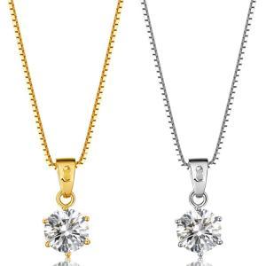 ネックレス レディース 大粒0.8カラット ネックレス 一粒/プラチナ ゴールド仕上/シルバー アクセサリー プレゼント 女性 ジュエリー|gulamu-jewelry|04