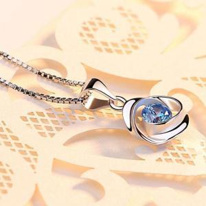 ネックレス レディース/大粒 クロスリング ネックレス/レディース/プラチナ仕上/シルバー/キュービックジルコニア/誕生日プレゼント gulamu-jewelry 12