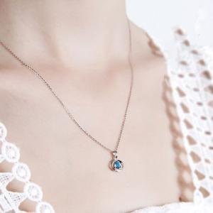 ネックレス レディース/大粒 クロスリング ネックレス/レディース/プラチナ仕上/シルバー/キュービックジルコニア/誕生日プレゼント gulamu-jewelry 08