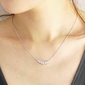 豪華7粒0.95カラット ネックレス/レディース/プラチナ仕上/シルバー925 アクセサリー 記念日 プレゼント 女性 ジュエリー|gulamu-jewelry|05