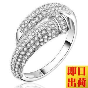 圧倒的存在感125粒 リング/指輪/レディース/プラチナ仕上/シルバー/C型リング アクセサリー ジュエリー ホワイトデー アクセサリー プレゼント 女性|gulamu-jewelry