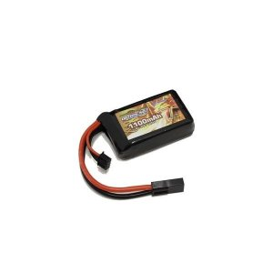 OPTION No.1/GB-0027M/BIG POWER LIPO 1100mAh 11.1V PEQインタイプ(縦34*横59*厚み17mm)|gun-yumekukan