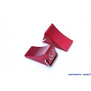 【送料全国一律270円】OPTION No.1(オプションNo.1)/NO-2320027/ホイールブロック(車輪止め)レッド・2個入|gun-yumekukan
