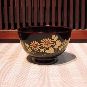 会津漆器 蒔絵汁椀 菊|gunkin-netshop