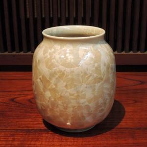 京焼 花結晶(茶) 肩丸花生(小)|gunkin-netshop