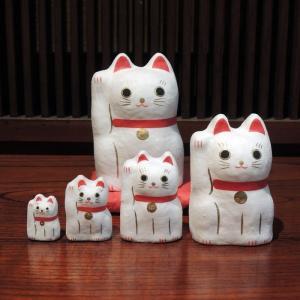 はりこーシカ 招き猫(白)|gunkin-netshop