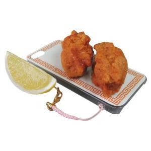 日本職人が作る  食品サンプルiPhone5ケース からあげ  ストラップ付き  IP-226 gunsa1