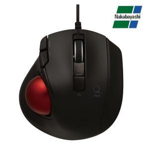 ナカバヤシ Digio2 極小トラックボール「Q」 小型 有線 静音 5ボタントラックボール ブラック MUS-TULF133BK|gunsa1