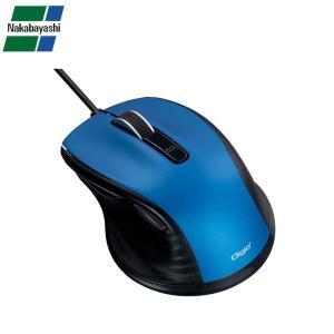 ナカバヤシ Digio2 F_line 小型 有線 静音 5ボタンBlueLEDマウス ブルー MUS-UKF142BL|gunsa1