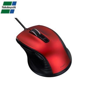 ナカバヤシ Digio2 F_line 小型 有線 静音 5ボタンBlueLEDマウス レッド MUS-UKF142R|gunsa1