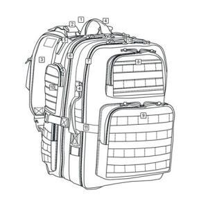 在庫あり [新品] Tru-Spec バックパック コヨーテ アトランコ Gunny Approved Tour Of Duty Lite Backpacks 4812 Japan正規品 [送料別]|gunshop|03