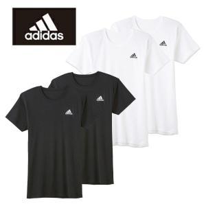 クルーネックTシャツ 2枚セット グンゼ アディダス APB0132|gunze-it