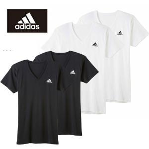VネックTシャツ 2枚セット グンゼ アディダス APB0152|gunze-it