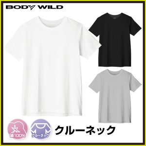 BODYWILD クルーネックTシャツ グンゼ BWB613|gunze-it