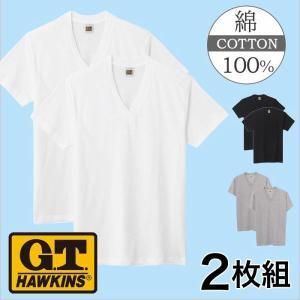 グンゼ VネックTシャツ4枚セット GTホーキンス HK10152K|gunze-it