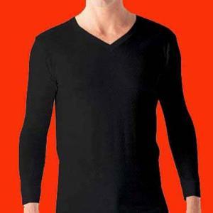 東レ Vネック ロングTシャツ 3枚セット 吸湿発熱 ソフトサーモ  HTBV3|gunze-it