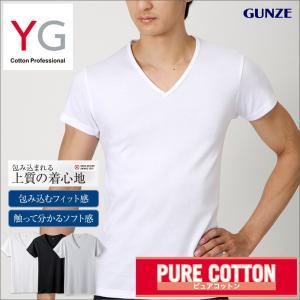 グンゼ VネックTシャツ3枚セット YG 綿100% YV0015K|gunze-it
