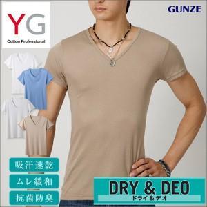 グンゼ VネックTシャツ3枚セット DRY YG 吸汗速乾 YV0115K|gunze-it