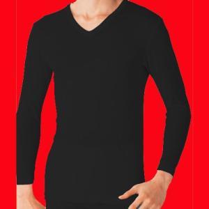グンゼ 吸湿発熱 VネックロングTシャツ YW1509|gunze-it
