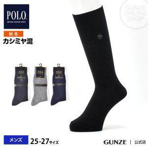 セール 特価 GUNZE(グンゼ)/POLO BCS/紳士ソックス(メンズ)履き口ゆるめ/秋冬/PBJ101/25-27|gunze