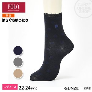 セール 特価 GUNZE(グンゼ)/POLO BCS/婦人ソックス 履きぐちゆったり 消臭(レディース)/秋冬/PBJ702/22-24|gunze