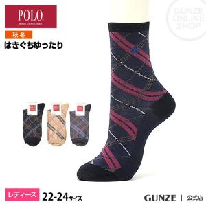 セール 特価 GUNZE(グンゼ)/POLO BCS/婦人ソックス 履きぐちゆったり 消臭(レディース)/秋冬/PBJ707/22-24|gunze