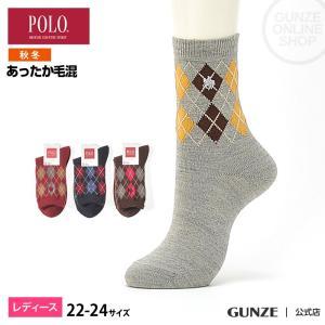 セール 特価 GUNZE(グンゼ)/POLO BCS/婦人ソックス(レディース)/秋冬/PBJ718/22-24|gunze