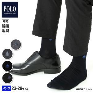 GUNZE(グンゼ)/POLO BCS/ワンポイントソックス(紳士)/年間靴下/PL0101|gunze