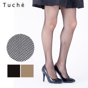 GUNZE(グンゼ)/Tuche(トゥシェ)/ラッセルネット柄ストッキング(レディース)/TH775P/M-L gunze