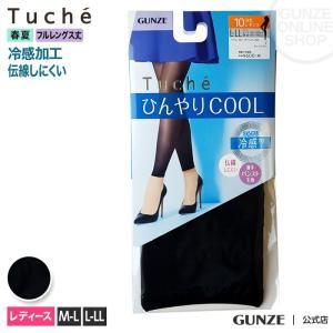 GUNZE(グンゼ)/Tuche(トゥシェ)/シアーレギンス10分丈(レディース)/春夏/TUF57G/M-L〜L-LL gunze