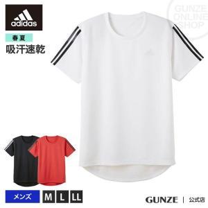 GUNZE(グンゼ)/adidas(アディダス)/クルーネックTシャツ(メンズ)/APC013A/M〜LL|gunze