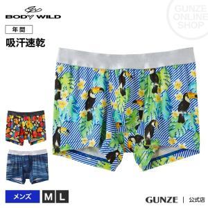 セール 特価 GUNZE(グンゼ)/BODY WILD(ボディワイルド)/ボクサーパンツ(前とじ)/BWA082J/M〜L|gunze