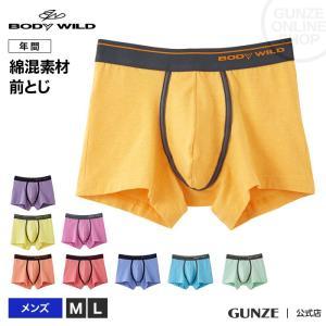 GUNZE(グンゼ)/BODY WILD(ボディワイルド)/ボクサーパンツ(前とじ)/BWB089J/M〜L|gunze
