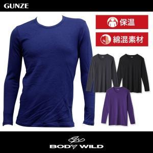 セール 特価 BODYWILD T シャツ ボディワイルド GUNZE グンゼ クルーネックロングスリーブシャツ(丸首)(紳士)/BWB408|gunze