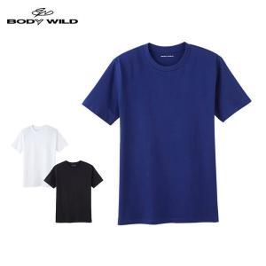綿100% グンゼ下着 メンズ ボディワイルド 半袖 Tシャツ GUNZE BODY WILD ボディーワイルド/クルーネックTシャツ(丸首)(紳士)/BWB613J|gunze