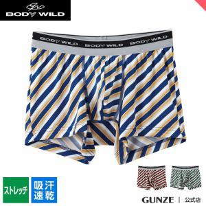 セール 特価 GUNZE(グンゼ)/BODY WILD(ボディワイルド)/ボクサーパンツ(前とじ)(メンズ)紳士/BWG085J/M〜L|gunze