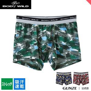 セール 特価 GUNZE(グンゼ)/BODY WILD(ボディワイルド)/ボクサーパンツ(前とじ)(メンズ)紳士/BWG086J/M〜L|gunze