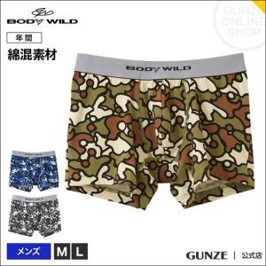 セール 特価 GUNZE(グンゼ)/BODY WILD(ボディワイルド)/ボクサーパンツ(前とじ)/(メンズ)/BWG095J/M〜L|gunze