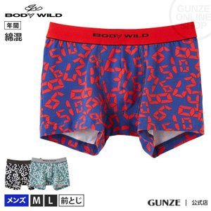 GUNZE(グンゼ)/BODY WILD(ボディワイルド)/ストレッチ ボクサーパンツ(前とじ)(メンズ)/BWG106J/M〜L|gunze
