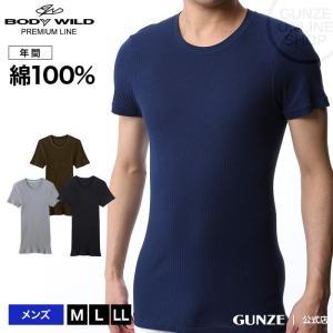 GUNZE(グンゼ)/BODY WILD(ボディワイルド)/【プレミアムライン】クルーネックTシャツ(丸首)(紳士)/BWN013P|gunze