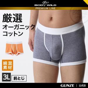 GUNZE(グンゼ)/BODY WILD(ボディワイルド)/ボクサーブリーフ/BWN704P/3L|gunze