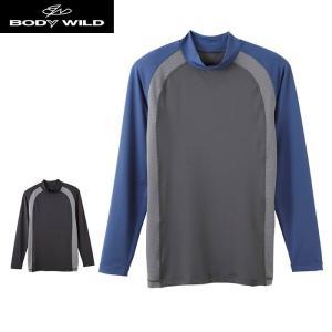 セール 特価 GUNZE(グンゼ)/BODY WILD(ボディワイルド)/ミドルネックロングスリーブシャツ(メンズ)紳士/BWP510J/M〜L|gunze