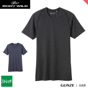 セール 特価 GUNZE(グンゼ)/BODY WILD(ボディワイルド)/クルーネックTシャツ(メンズ)紳士/BWP613J/M〜L gunze