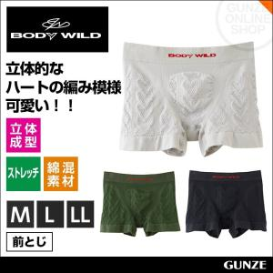 ボクサーパンツ メンズ GUNZE(グンゼ)/BODY WILD(ボディワイルド)/ボクサーブリーフ(前閉じ)(紳士)/年間ボクサー/BWS684G gunze