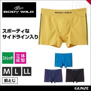【Casual Line Bottoms】 スポーティーなサイドライン入りの立体成型ボクサーパンツ(...