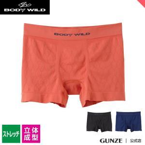 セール GUNZE(グンゼ)/BODY WILD(ボディワイルド)/ボクサーパンツ(前とじ)(メンズ)紳士/BWS860J/M〜LL|gunze