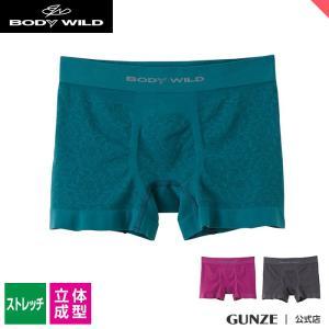 セール GUNZE(グンゼ)/BODY WILD(ボディワイルド)/ボクサーパンツ(前とじ)(メンズ)紳士/BWS861J/M〜LL|gunze