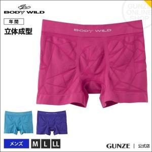セール GUNZE(グンゼ)/立体成型 ストレッチ 3D BODY WILD(ボディワイルド)/ボクサーパンツ(前とじ)(メンズ)/BWS862J/M〜LL|gunze
