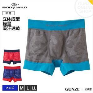 セール 特価 GUNZE(グンゼ)/BODY WILD(ボディワイルド)/ボクサーパンツ(前とじ)/(メンズ)/BWS940J/M〜LL|gunze